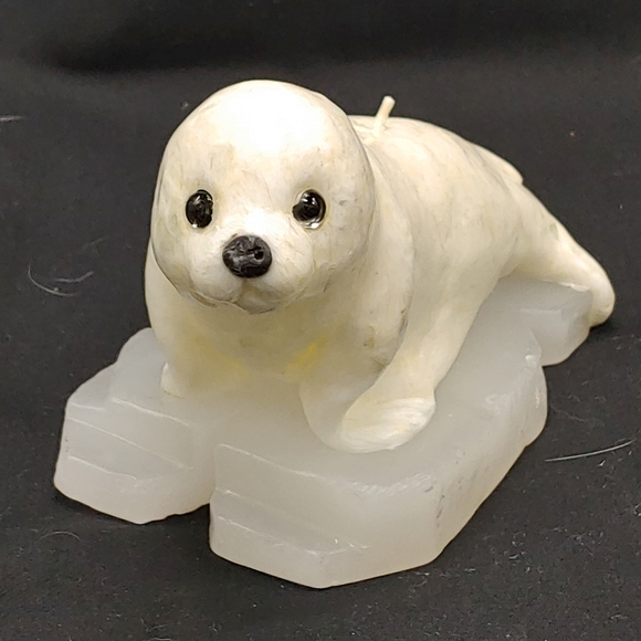 Vintage Baby Seal Candle